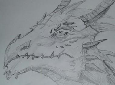 Dragon – pencil art